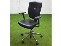 Black senator sprint leather chair office furniture cheap