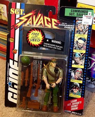 1994 GI Joe Sgt. Savage and His Screaming Eagles Commando Sgt. Savage 1+VHS Tape