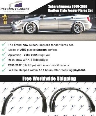 Subaru Impreza WRX STi 00-07 Karlton Style Fender Flares Wide Body Kit Arches US for sale  Shipping to United States