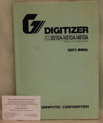 Graphic-Corportation Digitizing KD3310A/4310A/4610A User's Manual segunda mano  Embacar hacia Spain