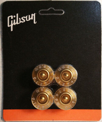 GIBSON Les Paul Gold Speed Control Knobs Set of (4) Guitar Parts Genuine New