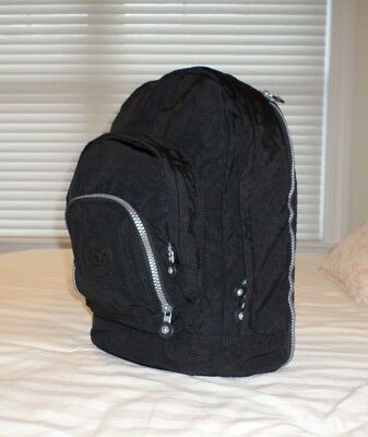 Kipling Women's Harper Large Expandable Black Backpack  NWT