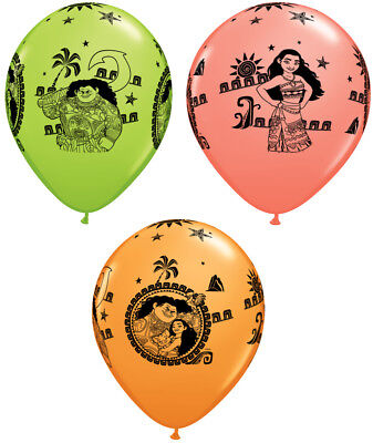 Moana & Maui Latex Balloons Girl Birthday Decoration Party Favor Supplies ~ 25ct](Girl Birthday)