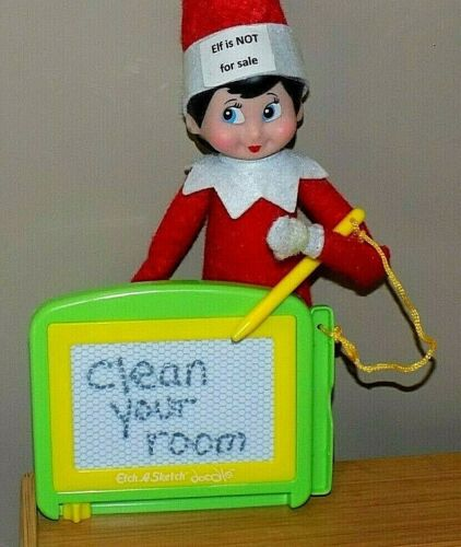 CHRISTMAS ELF PROPS ETCH A SKETCH DOODLE ACCESSORY FOR ON THE SHELF SANTA GAMES