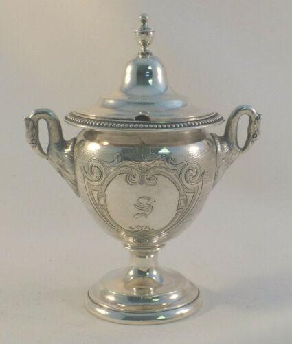 John Westervelt Newbury, NY Figural Coin Silver Mustard Pot