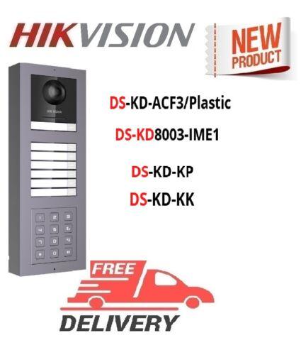 Hikvision Kit DS-KD-ACF3/Plastic+DS-KD8003-IME1+ DS-KD-KP+DS-KD-KK intercom