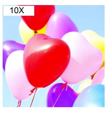 10 Ballons Herz Valentinstag Hochzeit Parteien Kinder Geburtstag Party