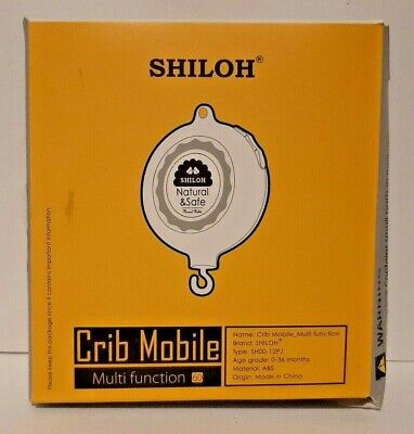 Shiloh Baby Crib Musical Mobile Battery-Operated Multi Function 60 Songs