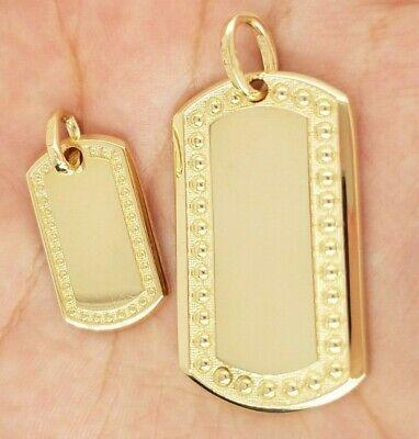 10k Yellow Gold ID Tag Dog Tag Pendant Custom Engravable Gift Present