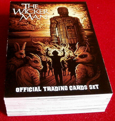 THE WICKER MAN (Christopher Lee) COMPLETE BASE SET of 54 cards Unstoppable Cards