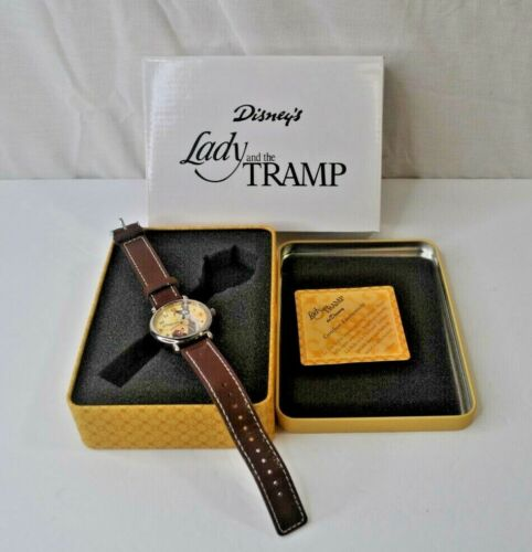 Disney Lady And The Tramp 50th Anniversary Watch W/ Tin-New Battery *Used*