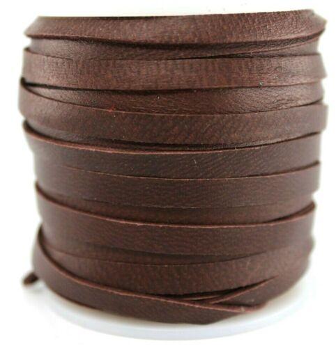 """Deerskin Deer Leather Lace Spool 3/16"""" 5MM 50 Ft Cord String Chocolate Brown"""