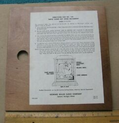 Howard Miller Mantel Clock Model 612-429 142 Triple Chime Direction Board~d