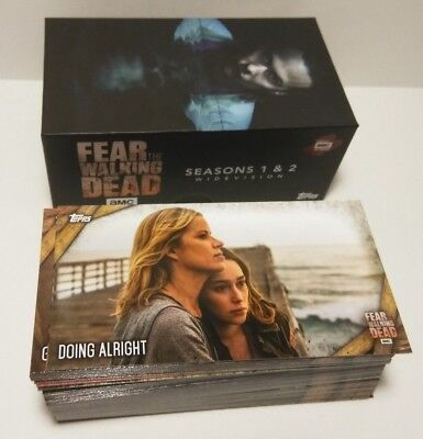 Topps  Fear The Walking Dead Season 1 & 2 Widevision Complete box card Set 1-80