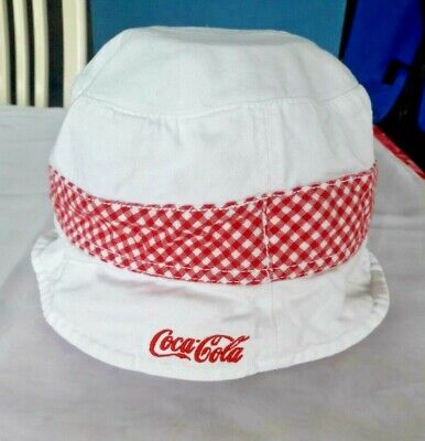 Vintage Coca-Cola Cotton Bucket Hat Embroidered Logo One Size