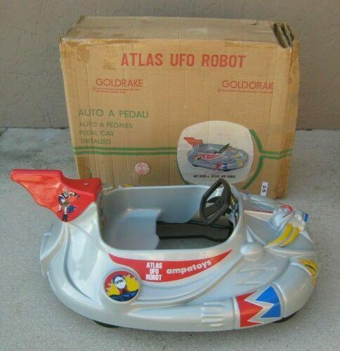 Ampatoys Grendizer Solar Saucer Goldrake Shogun robot PEDAL CAR Jumbo Machinder