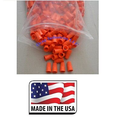 Orange Wire Connector Twist Nut Electrical (100 Pcs) 22-14 gauge AWG Auto - Home