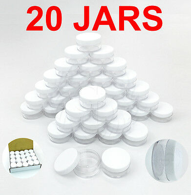 20pcs 10 Gram/10ML High Quality Makeup Cream Cosmetic Sample Jar Containers