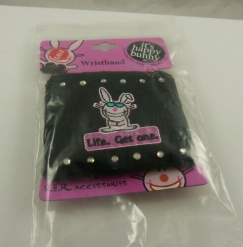 its Happy Bunny Wristband Life get one bling