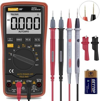 Digital Multimeter Amp Ohm Fluke Meter Voltmeter Autorange Current Tester Ac Dc