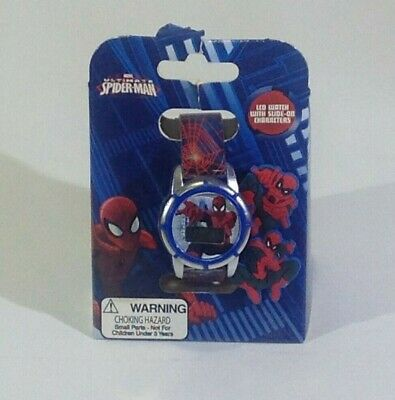 Marvel Spiderman Hard to Find Version NEW Spider-man LCD Watch Slide Ons