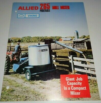 Allied Viking 265 Portable Feed Grinder Mill Mixer Sales Brochure Original 1967