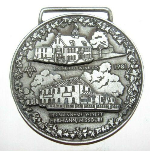 1981 Volksmarch Medal Stonehill Wine Co - Hermannhof Winery Hermann, MO Missouri