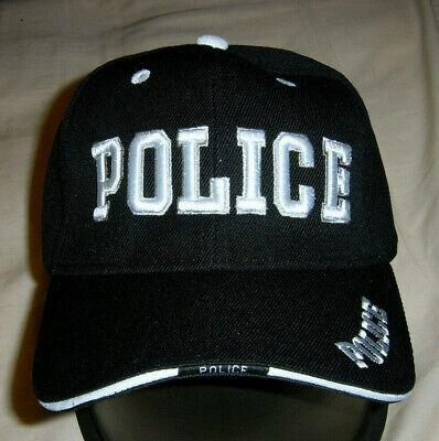 Police Baseball Cap Hat ballcap  Law Enforcement Hat Black Police Ball Cap