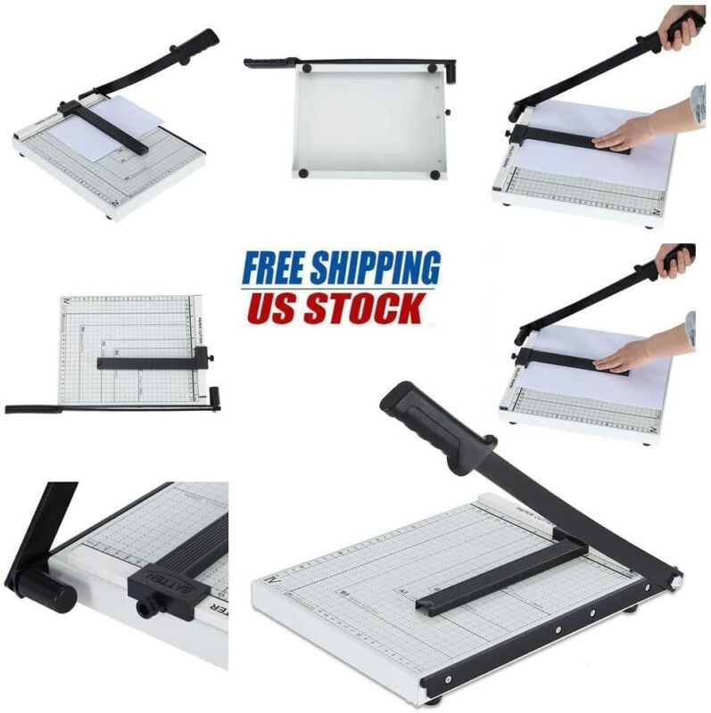 A4 To B7 Metal Paper Cutter Base Guillotine Page Trimmer Bla