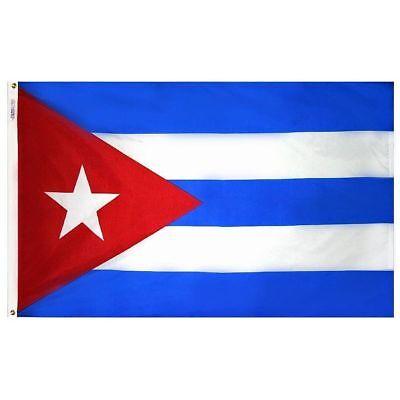 3X5 Cuba Flag 3'x5' Cuban Banner Flag USA SELLER 100 FABRIC