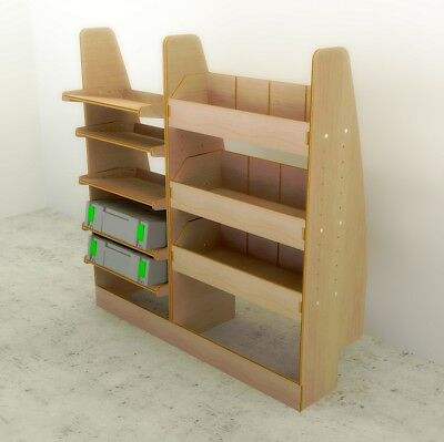 VW Caddy SWB - Full Driver Side Plywood Racking Shelving