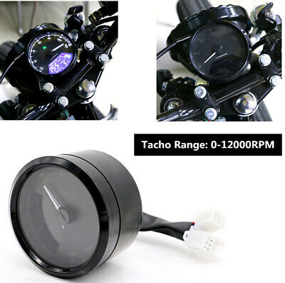 NEW MOTORCYCLE CHOPPER CAFE RACER LCD SIGNAL SPEEDOMETER TACHOMETER GA