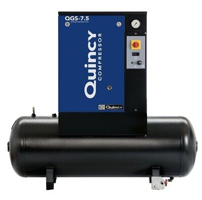 2021 New Quincy Qgs-7.5 Rotary Screw Air Compressor 7.5 Hp With 60 Gallon Tank