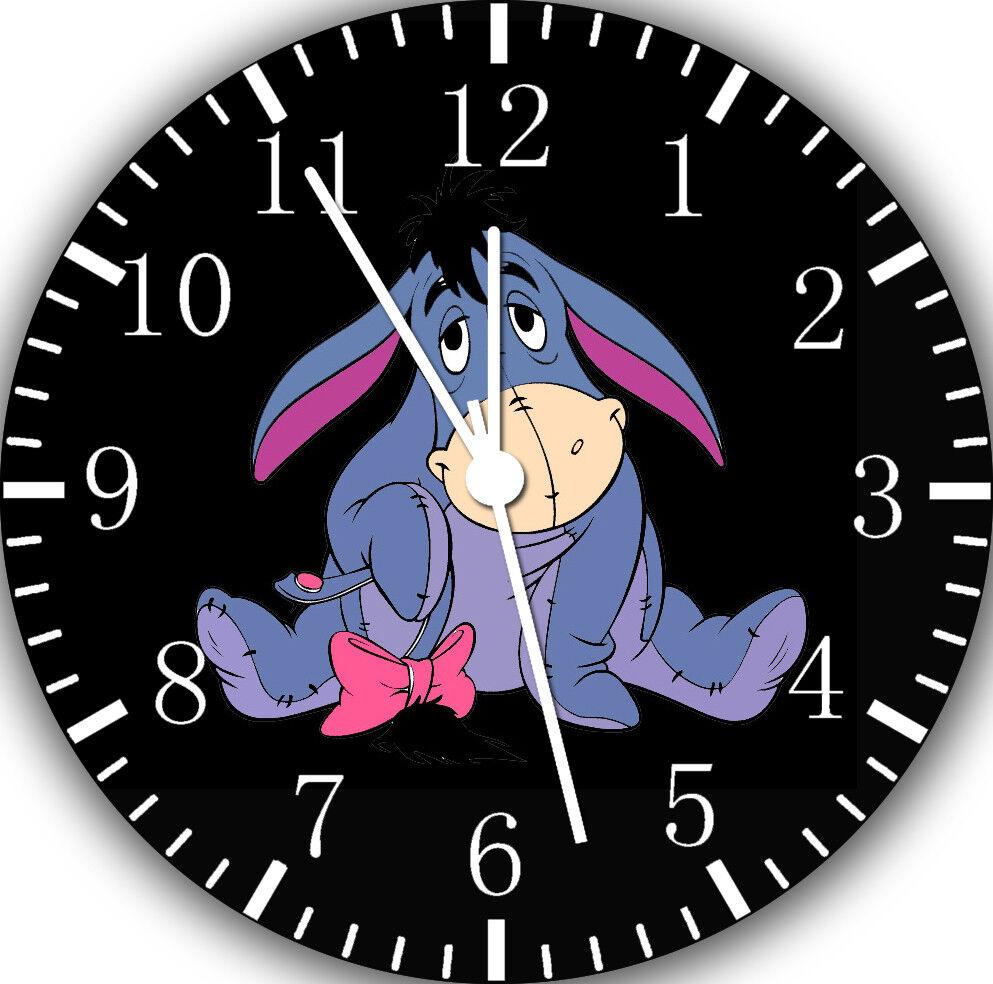 Winnie The Pooh Eeyore Frameless Borderless Wall Clock For Gifts or Decor E291