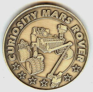 N513 Nasa Space Coin Medal Mars Rover Mission Curiosity