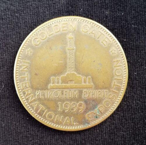 1939 Token Medallion Golden Gate International Exposition Petroleum Exhibit