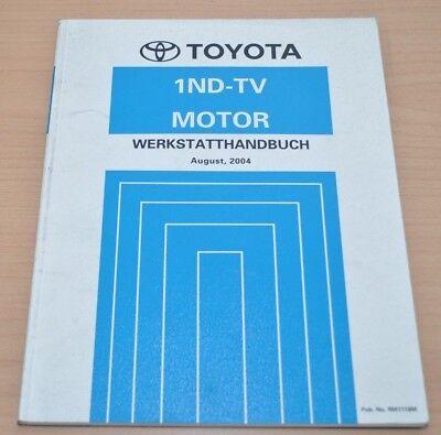 Gebraucht, Toyota Corolla 1ND-TV Motor NDE120 Reparaturanleitung Werkstatthandbuch  gebraucht kaufen  Gütersloh