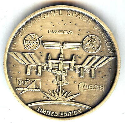 N608    LIMITED EDITION  NASA  SPACE  COIN /  MEDAL,INTERNATIONAL SPACE STATION
