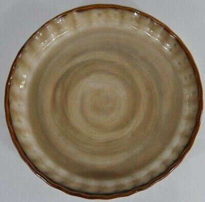 "Sango Nova Brown 9.5"" Baker Round Baking Ceramic Oven Proof Dish Pie Pan 4933"