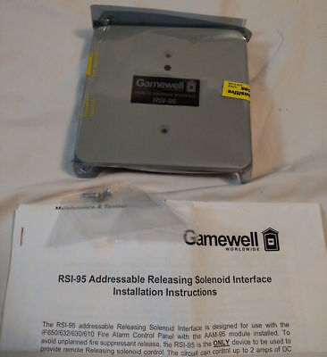 New Gamewell Rsi-95 Addressable Releasing Solenoid Interface 3 Available