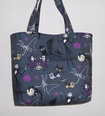 Christmas Totes (Handmade Halloween Nightmare Before Christmas Jack in The Boxes Tote Purse)