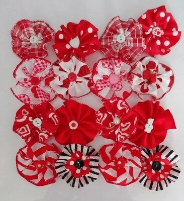 Lot St.Valentine 2.5 Small flowers collar accessories for Dog Cat Pet Handmade  - Valentine Accessories
