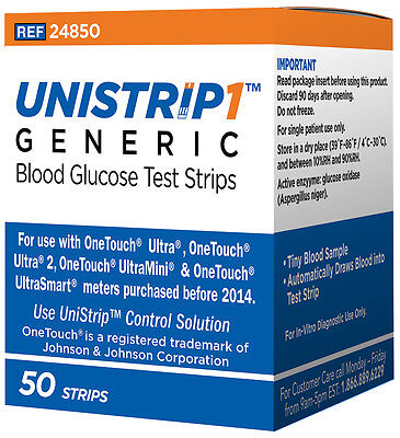 Unistrip Test Strips Blood Glucose Diabetes One Touch Ultra