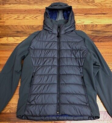 NWT CP Company Grey Shell Nylon Goggle Down Jacket IT 54 US XL 100% AUTHENTIC