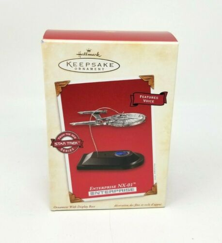 Hallmark Keepsake Ornament 2002 Star Trek Enterprise NX-01 Magic w/ Card New