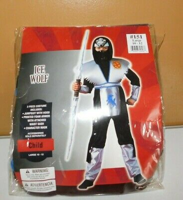 Disguise Ice Wolf Shadow Ninjas Halloween Costume with Mask Child 10-12 Large