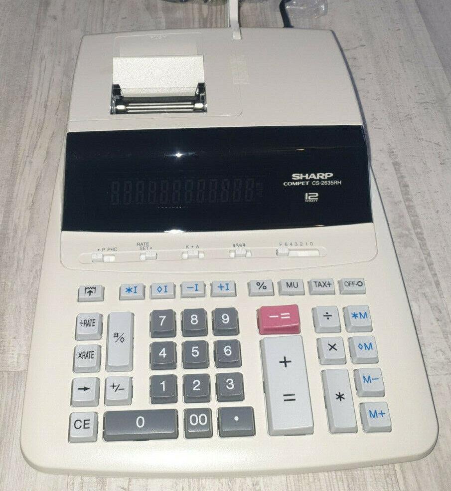 Sharp CS-2635 RHGY Druckender Tischrechner Grau Display (Stellen): 12