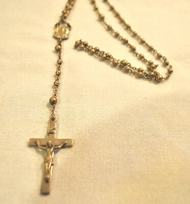 Lovely Vintage Creed Sterling Silver Rosary SIGNED CRUCIFIX VINTAGE MARY JESUS