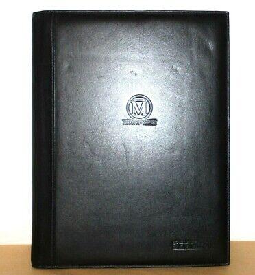 Tumi Skymiles Million Miler Black Leather Padfolio Notepad Cover Great Lk