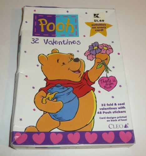Winnie the Pooh 32 Valentines Cards for Classroom School Disney Piglet Tigger